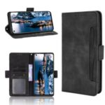 For Infinix Note 8i/X683 Multiple Card Slots Smartphone Protective Cover Stand Leather Case – Black