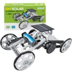 DIY008 Solar Power Climbing Vehicle STEM Educational Toy Building Block Model Vehicle for Kids – White