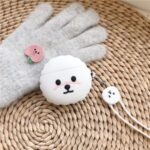 For Airpods 1/2 Pro Silicone Case Cover Teddy Dog Bluetooth Wireless Earphones Protector – White/for Airpods 1/2