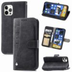 Matte Leather Stand Rotary Card Holder Wallet Case for iPhone 12 Pro Max Cover – Black