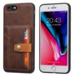 PU Leather Coated TPU Case [Card Slots] [Kickstand] for iPhone 7/8/SE (2nd Generation) – Brown