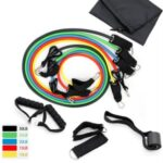 Workout Bands Tension Resistance Band Set (11 Pcs) for Weights Exercise and Fitness