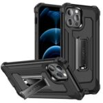 Jazz Series Shock-Proof Cell Phone Hybrid Cover Full Protection Case for iPhone 12 Pro Max – Black