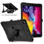 Full Protection PC + Silicone Tablet Case Cover with Kickstand for iPad 10.2 (2020)/iPad Air 10.5 inch (2019)/iPad 10.2 (2019) – Black