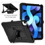 Full Protection PC + Silicone Tablet Case Cover with Kickstand for iPad Pro 11-inch (2018)/iPad Air (2020) – Black