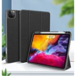 MUTURAL Cloth Texture Tablet Case Shell Kickstand with Pen Slot for iPad Pro 11-inch (2021) – Black