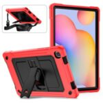 Contrast Color Design Tablet Cover Case with Slide-Out Kickstand for Samsung Galaxy Tab A7 10.4 (2020) T500 – Red/Black