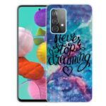 Pattern Printing Soft TPU Phone Cover Case for Samsung Galaxy A32 4G – Starry Sky