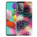 Beautiful Pattern Printing Soft TPU Phone Cover Case for Samsung Galaxy A32 4G – Black Leaf Pattern