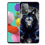 Beautiful Pattern Printing Soft TPU Phone Cover Case for Samsung Galaxy A32 4G – Wolf