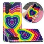 Electroplating IMD Marble Pattern Printing Flexible TPU Cover Case for Huawei P30 Pro – Heart