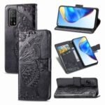 Big Butterfly Imprinting Leather Wallet Stand Design Phone Shell for Xiaomi Mi 10T 5G/Mi 10T Pro 5G/Redmi K30S – Black
