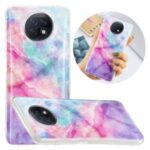 Anti-Drop IMD Marble Pattern Printing Flexible TPU Soft Back Cover for Xiaomi Redmi Note 9T 5G/Redmi Note 9 5G – Pink/Green Starry Sky