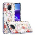 Anti-Drop Electroplating IMD Marble Pattern Splicing Case for Xiaomi Redmi Note 9T 5G/Redmi Note 9 5G TPU Protector Cover – Rainforest