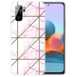 Marble Pattern Soft TPU Shockproof Phone Back Cover Case for Xiaomi Redmi Note 10S / Note 10 4G – Style A