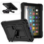 Full Protection PC + Silicone Tablet Case Cover with Kickstand for Amazon Fire HD 8 (2020) – Black