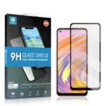 MOCOLO Full Glue Full Coverage Silk Printing Tempered Glass Screen Protector for Realme V15 5G – Black