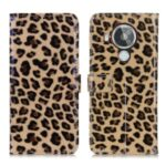 Leopard Print Design Wallet Stand Phone Protective Cover Case for Nokia 7.3
