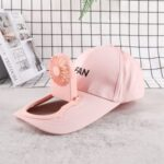 SY940 USB Charge Sunscreen Fan Hat Summer Outdoor Sport Hats Sun Protection Baseball Cap with Cooling Fan – Pink