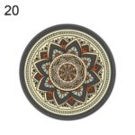 Bohemian Round Mouse Pad Mat Mousepad, Diameter: 20cm / Thickness: 0.2cm – Style 20