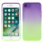 Shockproof Gradient Color TPU Phone Protective Shell Case for iPhone 7 4.7 inch / 8 8 4.7 inch / SE (2nd Generation) – Purple Green