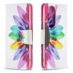 Pattern Printing Wallet Leather Phone Case for Huawei P50 – Colorful Petals