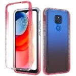 High Transmittance 2-in-1 Plastic+TPU Phone Cover Case for Motorola Moto G Play (2021) – Red