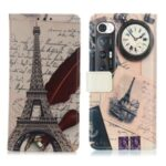 Pattern Printing Design Wallet PU Leather Protector Phone Stand Cover Shell for Xiaomi Mi 10S – Tower and Feather