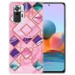 Marble Pattern TPU Cell Phone Case for Xiaomi Redmi Note 10 Pro Max / Redmi Note 10 Pro – Style A