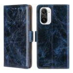 TPU + PU Leather Stand Phone Case Shell with Card Slots for Xiaomi Redmi K40/Redmi K40 Pro/Poco F3/Mi 11i – Blue
