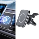 ESSAGER EZJCX-GZ 15W Car Magnetic Wireless Charger Air Vent Phone Holder for iPhone/Huawei – Silver