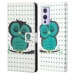 Wallet Design Full Protection Pattern Printing Leather Protective Case with Stand for OnePlus 9R – Single Owl