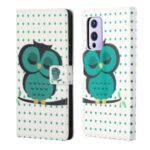 Wallet Design Pattern Printing Full Protection Leather Protective Case with Stand for OnePlus 9 (EU / US Version) – Single Owl
