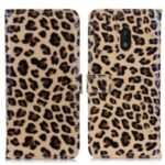 Leopard Pattern Leather Wallet Stand Case Cover for Nokia C1 Plus