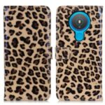 Leopard Pattern Magnetic Leather Stand Case for Nokia 1.4