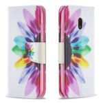 Hot Style Pattern Printing Magnetic Leather Wallet Case for Nokia C1 Plus – Colorful Petals