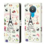 Pattern Printing Leather Phone Case Protective Cover Wallet Stand for Nokia 1.4 – Iron Tower