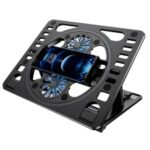 HZ01 Laptop Cooler Cooling Pad USB Two Cooling Fan Heat Dissipation Adjustable Notebook Stand – Black