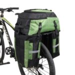 RHINOWALK 3 in 1 60L Bicycle MTB Bike Bag Large Capacity Rear Rack Seat Tail Pannier Pack Cycling Bag – Green