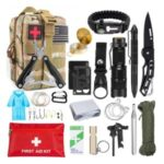 AGCY-45 Outdoor Survival Kit Camping Emergency Equipment Multi Tool Set – Style 1/Camouflage Green