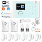 CS118 WiFi GSM Anti-theft Home Intruder Smart Alarm System 6 Door Magnetic Sensors 2 Remote Controls Touch Screen Host Tuya APP Voice Control Security System