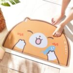 Cartoon Design Bath Mat Soft Non-Slip Home Floor Pad Water Absorbent Bathroom Rug – Cat