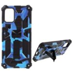 Well-Protected Camouflage Design Detachable 2 in 1 Phone Protective Shell with Magnet Sheet for Samsung Galaxy A71 5G SM-A716 – Dark Blue