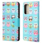Cross Texture Wallet Design New Pattern Printing Leather Stand Case for Samsung Galaxy A82 5G – Cute Owls