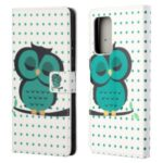 Wallet Design Pattern Printing Full Protection Leather Stand Protective Case with Stand for Samsung Galaxy A82 5G – Single Owl