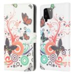 Pattern Printing Full Protection Wallet Design Leather Stand Protective Case with Stand for Samsung Galaxy A22 4G (EU Version) – Colorful Butterfly