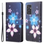 Cross Texture New Pattern Printing Wallet Design Leather Stand Case for Samsung Galaxy A82 5G – Flower