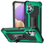 Jazz Series Drop-proof PC + TPU Hybrid Phone Cover Case for Samsung Galaxy A32 5G – Green