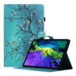 Shockproof Pattern Printing Leather Tablet Stand Case Cover with Card Holder for Lenovo Tab P11 TB-J606F/iPad Air (2013)/iPad Air 2 9.7 (2017/2018) – Flower Tree