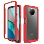 TPU + PC Hybrid Case Protection Cover for Xiaomi Redmi Note 9 5G/Note 9T 5G – Red